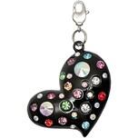 Jewellery Made by Me Big Charm Herz mit Strass mehrfarbig 42x49mm