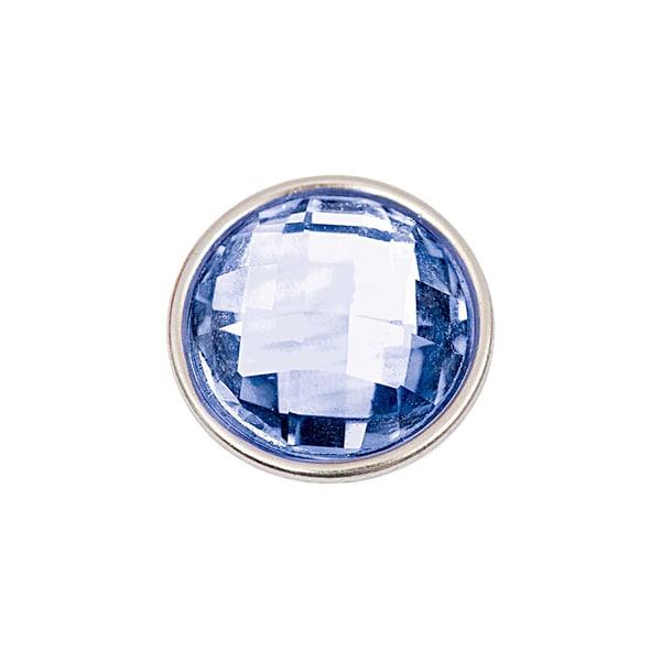 Rico Design Knopf Glasstein dunkelblau 14mm