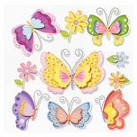 HobbyFun XXL Sticker Schmetterlinge