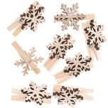 Ohhh! Lovely! Dekoklammern Schneeflocke natur 3cm 8 Stück