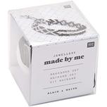 Jewellery Made by Me Makrameeset schwarz-weiß für 3 Armbänder