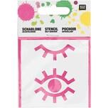 Rico Design Schablone Augen 7,5x7,5cm selbstklebend