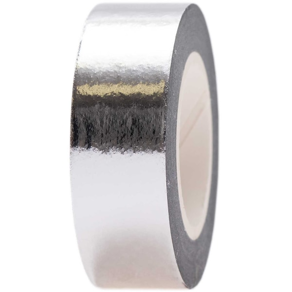 Paper Poetry Tape Metallic 15mm 10m silber
