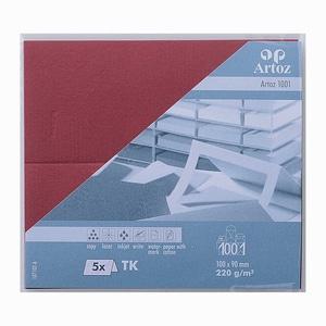 Artoz Tischkarte Serie 1001 220g/m² 5 Stück weinrot