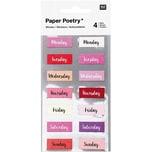 Paper Poetry Sticker Wochentage rosa 28 Stück
