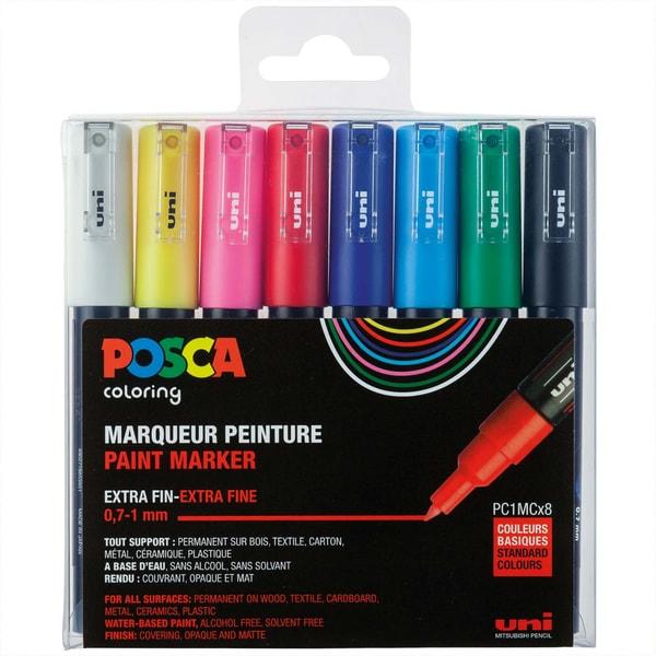 uni POSCA-Marker PC-1MC 0,7-1mm 8 Stück