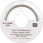 Rico Design Edelstahlseide 0,38mm 10m silberfarbig