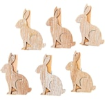 Ohhh! Lovely! Dekoklammern Hase 6 Stück shabby chic