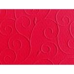 Marpa Jansen Prägekarton Arabesken 50x70cm 220g/m² ätna-rot