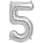 Rico Design Folienballon Zahl silber 36cm 5