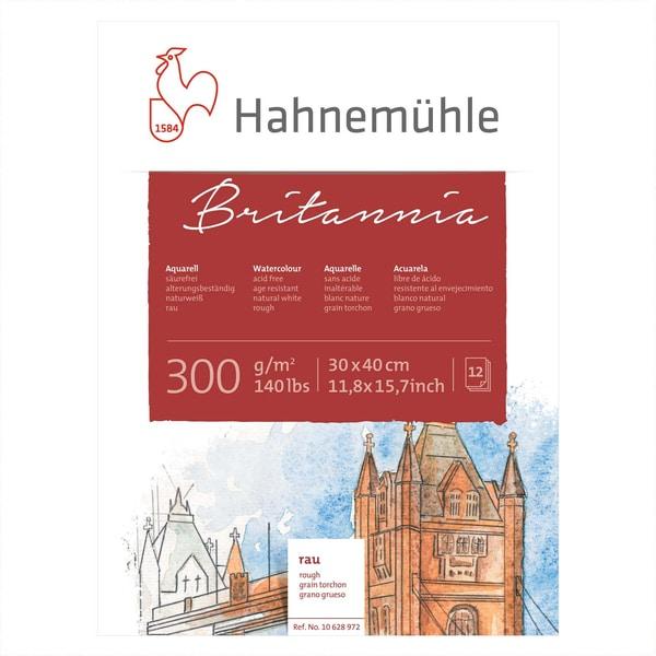 Hahnemühle Aquarellblock Britannia rau 30x40cm 300g/m² 12 Blatt