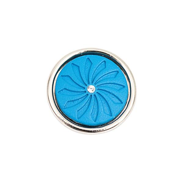 Rico Design Knopf Strahlen mit Strass blau 14mm