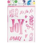 Rico Design Schablone Love & Joy 18,5x24,5cm selbstklebend