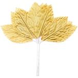Deko Blätter im Bund gold 4,8x2,5cm