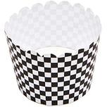Rico Design Backförmchen schwarz-weiß 6cm 12 Stück