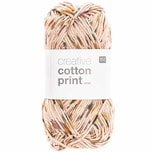 Rico Design Creative Cotton Print aran 50g 85m petrol-orange spray