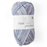 Rico Design Baby Cotton Soft Print dk 50g 125m blau-lila