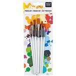 Rico Design Schul- und Hobbypinsel flach 6er Set