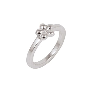 Rico Design Ring mit Blume 16mm 18 mm