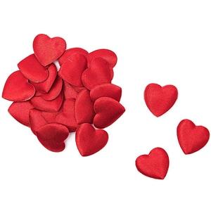 Streudeko Satinherzen 1,2cm 144 Stück rot