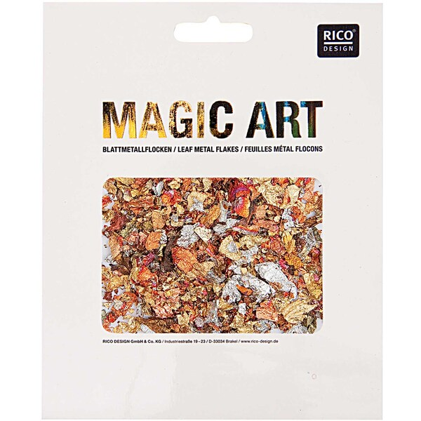 Rico Design Magic Art Blattmetall-Flocken mix