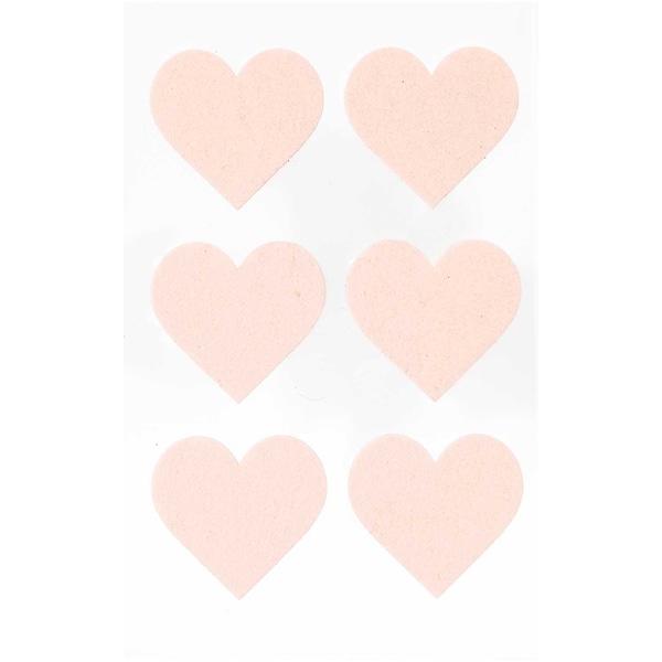 Paper Poetry Filzsticker Herzen groß 1 Blatt puder