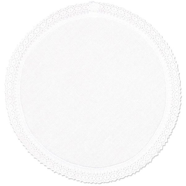 Rico Design Deckchen weiß mit Spitze 20cm
