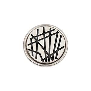 Rico Design Knopf Linien schwarz-weiß 14mm