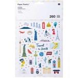 Paper Poetry Sticker Travel the World 260 Stück