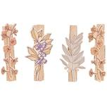 Ohhh! Lovely! Holzclips Blumen Mix bunt 4,8cm 4 Stück