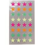 Paper Poetry Sticker Sterne neon 4 Blatt 11 mm