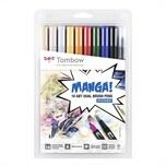 Tombow ABT Brush Pen Set Manga Shonen 10teilig