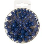 Perlen-Set 70-teilig blau