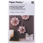 Paper Poetry Bastelset Papiertüten-Sterne Jolly Christmas klein rosa