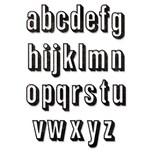 Sizzix Thinlits Die Set Alphanumeric Shadow Lower