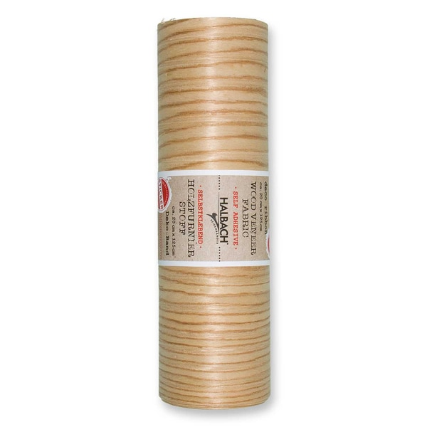 HALBACH Stoff Holzfurnier selbstklebend natur 20cm 1,25m