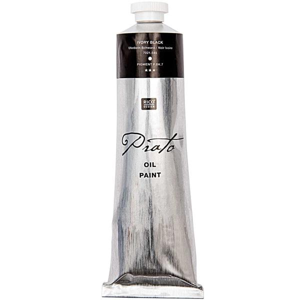 Rico Design Prato Ölfarbe elfenbein schwarz 150ml