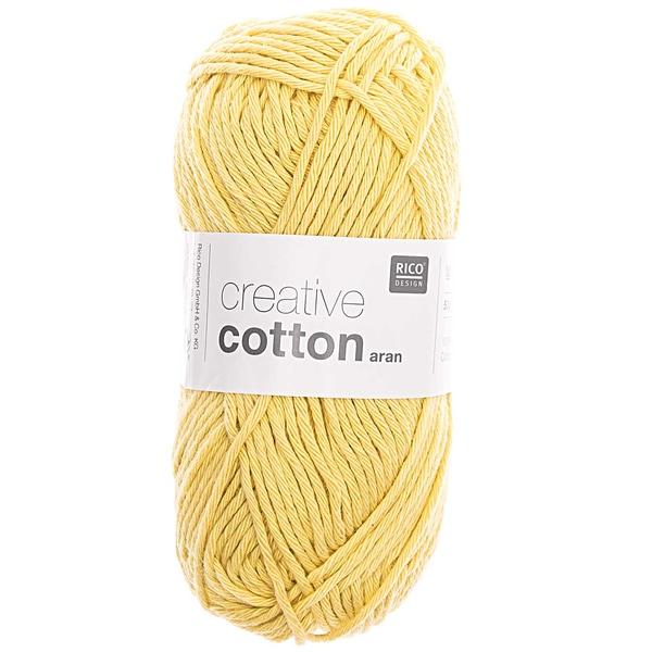 Rico Design Creative Cotton aran 50g 85m hellgelb