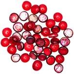 Glasnuggets 700g rot irisierend