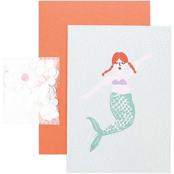 Paper Poetry Grußkartenset Mermaid Meerjungfrau