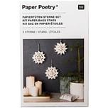 Paper Poetry Bastelset Papiertüten-Sterne klein weiß