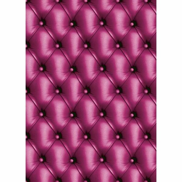 décopatch Papier Leder pink 3 Bogen