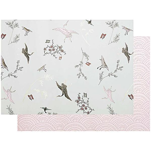 Paper Poetry Motivkarton Jardin Japonais Kraniche 50x70cm
