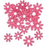 Rico Design Blüten aus Holz pink 12 Stück