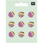 Rico Design Knopfmix perlmutt mehrfarbig 1,5cm 9 Stück