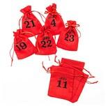 Adventskalender Beutel 1-24 rot
