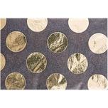 Paper Poetry Seidenpapier schwarz Punkte gold 70x50cm 4 Bogen Hot Foil