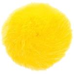 Rico Design Kunstfellbommel 10cm gelb