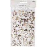 Adventskalender Zahlen braun-grau 3cm Holz 24 Stück