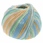 Lana Grossa Meilenweit 100 Cotton Bamboo Butterfly 100g 420m hellblau Mix